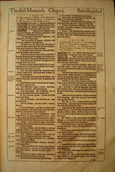 King James - 1613 - GENESIS 10:1-13:5