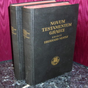 Greek NT-Nestle – 1953 – NOVUM TESTAMENTUM GRAECE, 2 vols