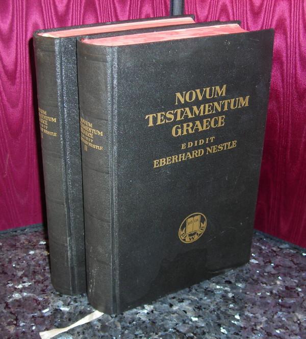Greek NT-Nestle - 1953 - NOVUM TESTAMENTUM GRAECE, 2 vols