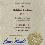 Biblia Sacra - 1531 - HAGGAI 1-2 and Prologue