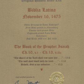 Biblia Latina - 1475 - ISAIAH 10:1-13:22