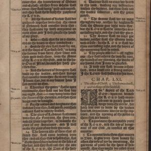 King James – 1617 – ISAIAH 60:5-63:1