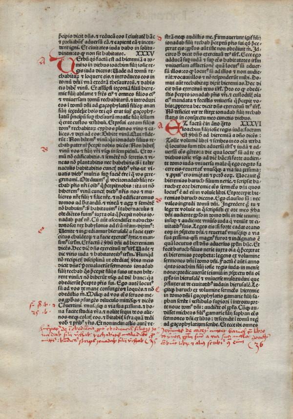 Biblia Sacra - 1480 - JEREMIAH 33:13-36:11