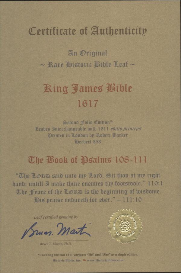 King James - 1617 - PSALMS 108-111
