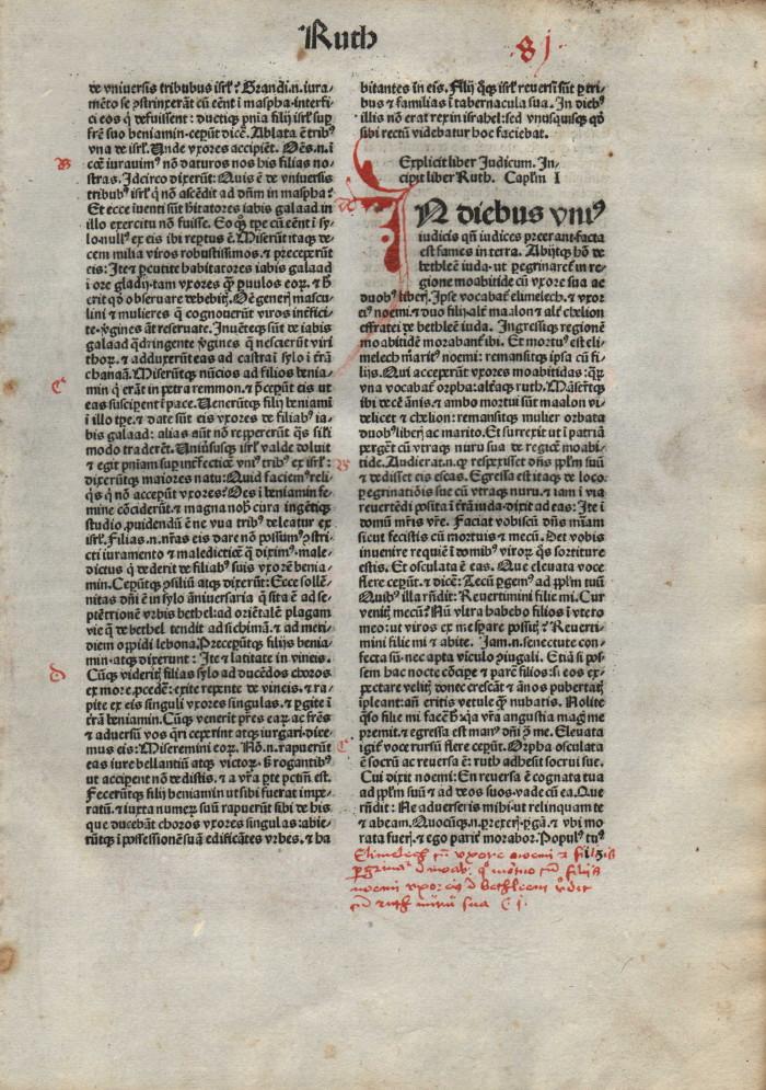 Biblia Sacra - 1480 - RUTH 1:1-3:8