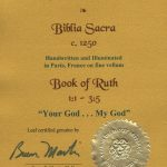Biblia Sacra - 1250 - RUTH 1:1-3:5
