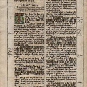 King James – 1611 – JEREMIAH 21-23