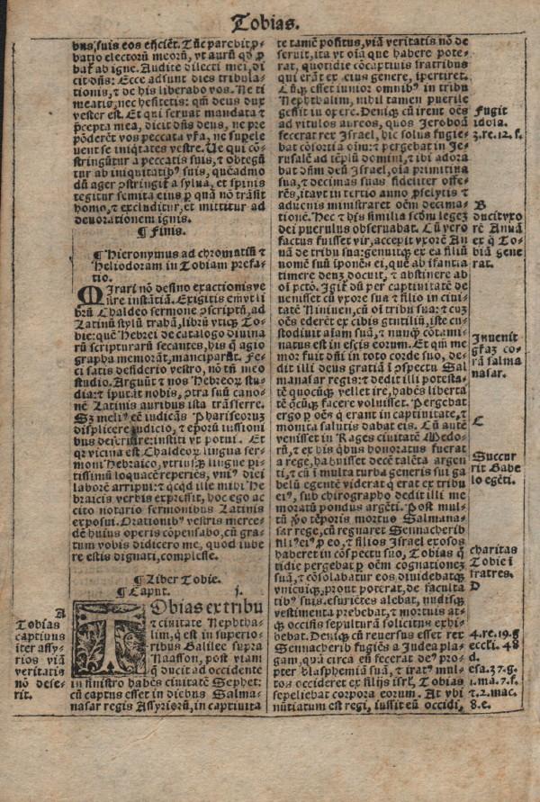 Biblia Sacra - 1531 - TOBIT 1, and ending to Esdras/Ezra IV