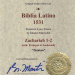 Biblia Sacra - 1531 - ZACHARIAH 1-2, and Prologue
