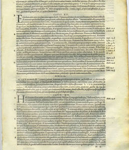 Biblia Sacra – 1542 – New Testament leaf